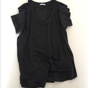 Zara Linen Short Sleeve T-shirt, Size S